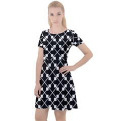 Abstract Background Arrow Cap Sleeve Velour Dress  by AnjaniArt