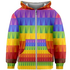 Abstract Pattern Background Kids  Zipper Hoodie Without Drawstring