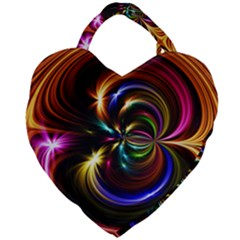 Abstract Line Wave Giant Heart Shaped Tote by AnjaniArt