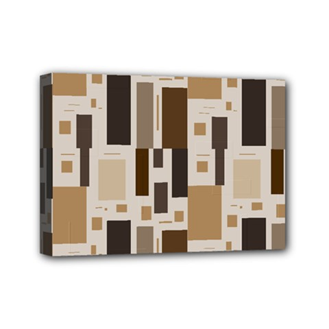 Background Wall Plaid Mini Canvas 7  X 5  (stretched)