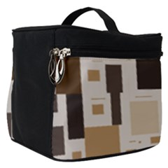 Background Wall Plaid Make Up Travel Bag (small)