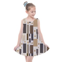 Background Wall Plaid Kids  Summer Dress by AnjaniArt