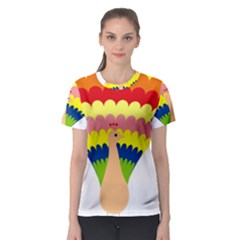 Bird Peacock Pictures Women s Sport Mesh Tee by AnjaniArt