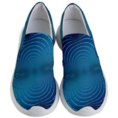 Background Brush Particles Wave Women s Lightweight Slip Ons by AnjaniArt