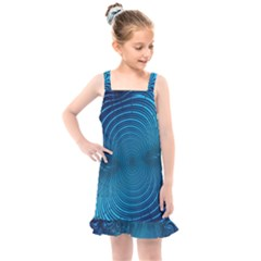Background Brush Particles Wave Kids  Overall Dress by AnjaniArt