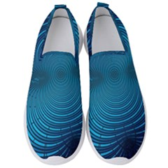 Background Brush Particles Wave Men s Slip On Sneakers by AnjaniArt
