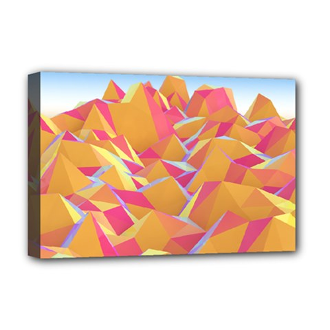Background Mountains Low Poly Deluxe Canvas 18  X 12  (stretched)