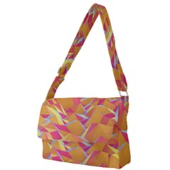 Background Mountains Low Poly Full Print Messenger Bag
