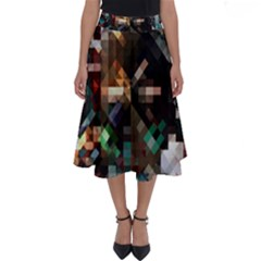 Abstract Texture Perfect Length Midi Skirt by AnjaniArt