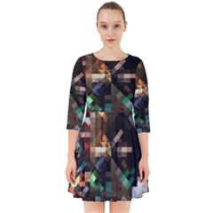 Abstract Texture Smock Dress