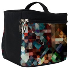 Abstract Texture Make Up Travel Bag (big) by AnjaniArt