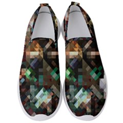 Abstract Texture Men s Slip On Sneakers by AnjaniArt