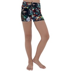 Abstract Texture Kids  Lightweight Velour Yoga Shorts by AnjaniArt