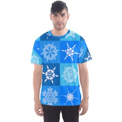 Background Blue Decoration Men s Sports Mesh Tee