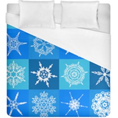 Background Blue Decoration Duvet Cover (king Size) by AnjaniArt
