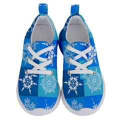 Background Blue Decoration Running Shoes by AnjaniArt