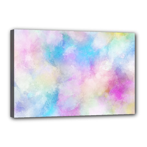 Abstract Watercolor Canvas 18  X 12  (stretched)