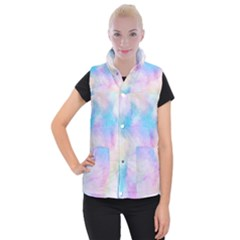 Abstract Watercolor Women s Button Up Vest by AnjaniArt