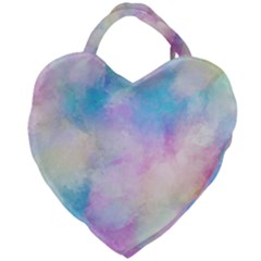 Abstract Watercolor Giant Heart Shaped Tote