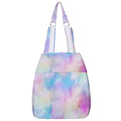 Abstract Watercolor Center Zip Backpack