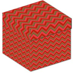 Background Retro Red Zigzag Storage Stool 12