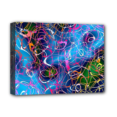 Background Chaos Mess Colorful Deluxe Canvas 16  X 12  (stretched)  by AnjaniArt