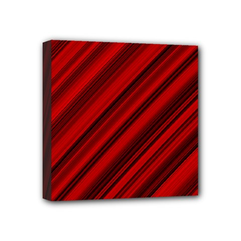 Background Red Lines Mini Canvas 4  X 4  (stretched) by AnjaniArt