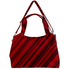 Background Red Lines Double Compartment Shoulder Bag