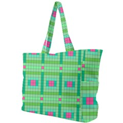 Checkerboard Squares Abstract Green Simple Shoulder Bag