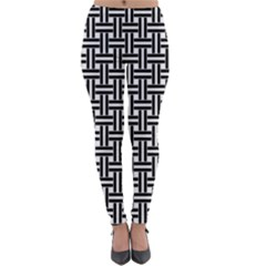 Braiding Vector Fabric Pattern Lightweight Velour Leggings by AnjaniArt