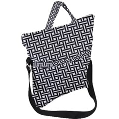 Braiding Vector Fabric Pattern Fold Over Handle Tote Bag