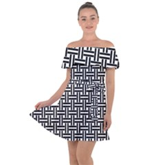 Braiding Vector Fabric Pattern Off Shoulder Velour Dress by AnjaniArt