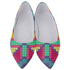 Checkerboard Squares Abstract Women s Low Heels by AnjaniArt