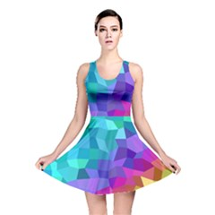Colorful Multicolored Rainbow Reversible Skater Dress