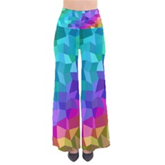 Colorful Multicolored Rainbow So Vintage Palazzo Pants by AnjaniArt