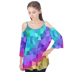 Colorful Multicolored Rainbow Flutter Tees