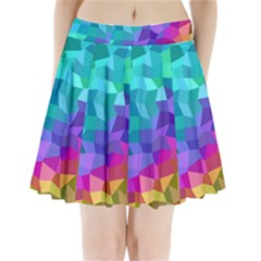 Colorful Multicolored Rainbow Pleated Mini Skirt by AnjaniArt