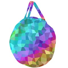 Colorful Multicolored Rainbow Giant Round Zipper Tote