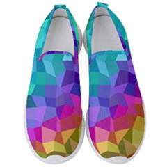 Colorful Multicolored Rainbow Men s Slip On Sneakers by AnjaniArt