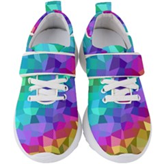 Colorful Multicolored Rainbow Kids  Velcro Strap Shoes by AnjaniArt