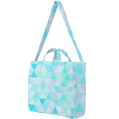Blue Abstract Pattern Square Shoulder Tote Bag