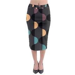 Abstract Background Modern Midi Pencil Skirt