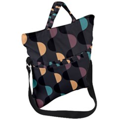 Abstract Background Modern Fold Over Handle Tote Bag