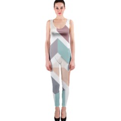 1  Rhombus Geometry  Abstract One Piece Catsuit