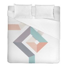 1  Rhombus Geometry  Abstract Duvet Cover (full/ Double Size) by Jojostore