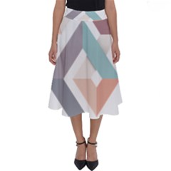 1  Rhombus Geometry  Abstract Perfect Length Midi Skirt