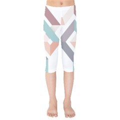1  Rhombus Geometry  Abstract Kids  Capri Leggings  by Jojostore