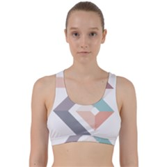 1  Rhombus Geometry  Abstract Back Weave Sports Bra