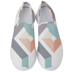 1  Rhombus Geometry  Abstract Men s Slip On Sneakers by Jojostore