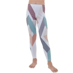 1  Rhombus Geometry  Abstract Kids  Lightweight Velour Leggings by Jojostore